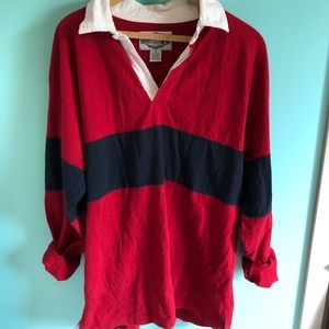 VTG 80s Color Block Oversized Rugby Top